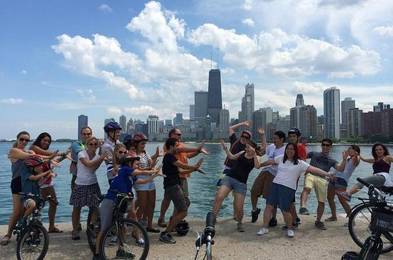 people on a chicago bike tour